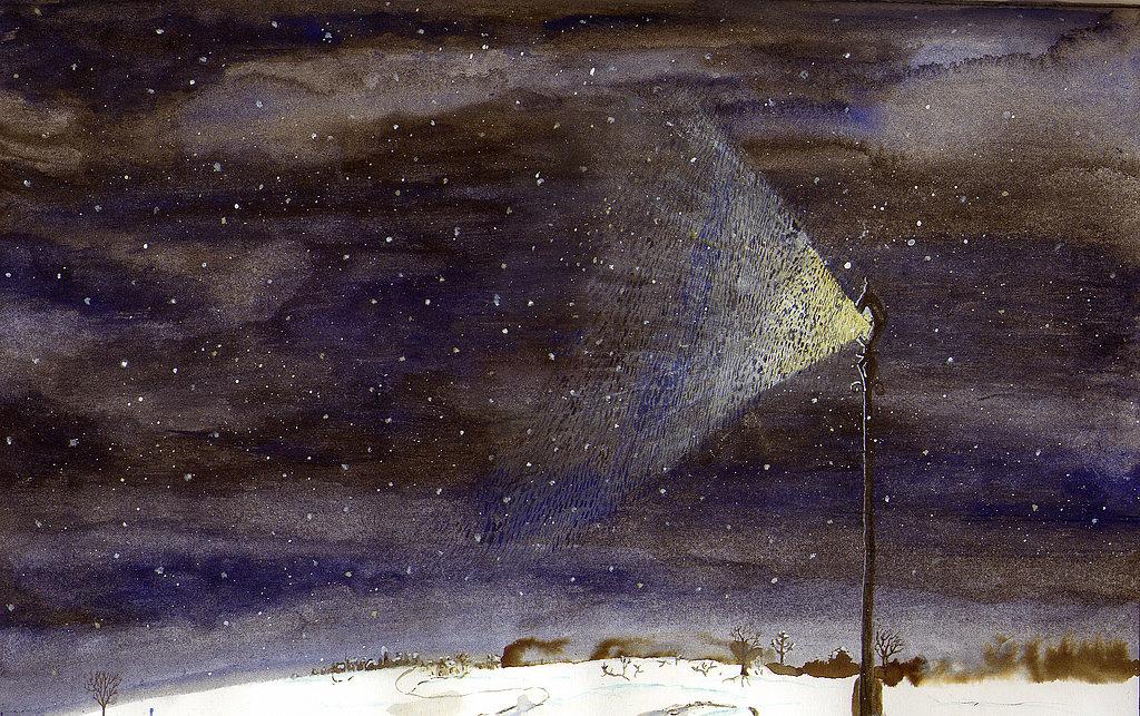 Snowy Lampost